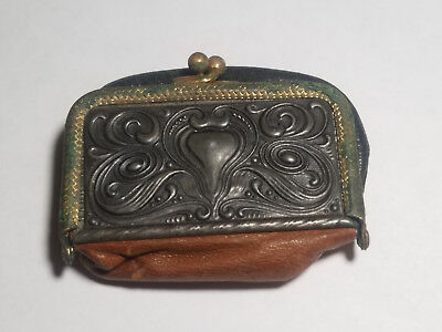 Very Old Leather Coin Purse, Orchard City Bank, Xenia Illinois