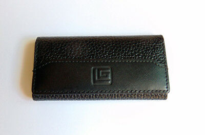 Guy Laroche Paris Leather Key Case – Key pouch - Black – 4 Key Holders - Vintage