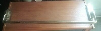 "Vintage Type D 30"" Commercial Brass Push Crash Bar Panic Exit Door Device"