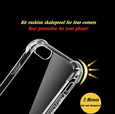 US-New Hybrid Skin Transparent Case TPU Gel Cover For Apple iPhone X 8 7 6s Plus