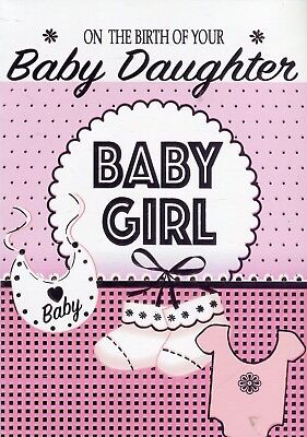 on the birth of your baby daughter congratulations new baby card