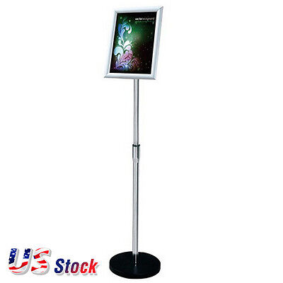 US Stock-A4 Size Pedestal Sign Stand Adjustable Height Display Frame