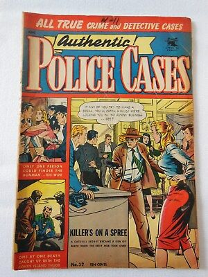 """Authentic Police Cases Vol. 1 #32 1954 St. John Publishing """"Killer's On a Spree"""""""