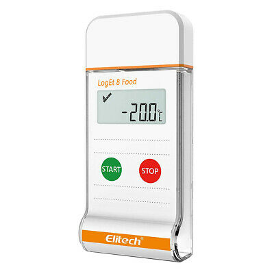 Elitech LogEt 8 Food Temperature Data Logger USB Recorder PDF Reporter
