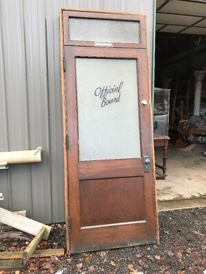 An Antique 36 Inch Passage Door With Jam In Transom