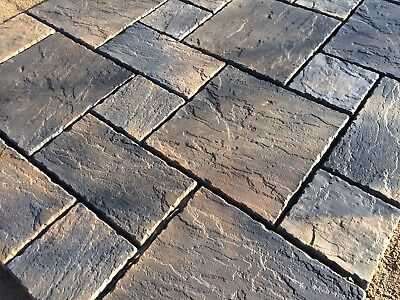 Charcoal Oatmeal Blend York Paving Concrete Patio Slabs 20sqm