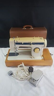 Crown Point (Assumed) Vintage Portable Electric Sewing Machine with Zig Zag