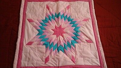 Beautiful authentic Native American Lakota baby star quilt Pink