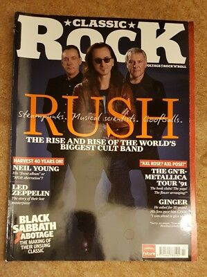 Classic Rock Magazine Issue 172 Rush Cover July 2012