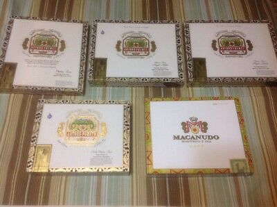 5 Paper Covered Wooden Cigar Box Lot Art Crafting Project Cases Tobacco Stash 5