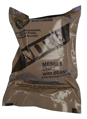 NEW MRE Singles  '20-'21 1st Inspection Date - US MILITARY Meals Ready to Eat