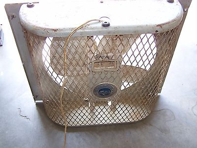 Emerson  Electric Box Fan Attic Window House Shop  IN OR OUT REVERSIBLE 2 SPEED