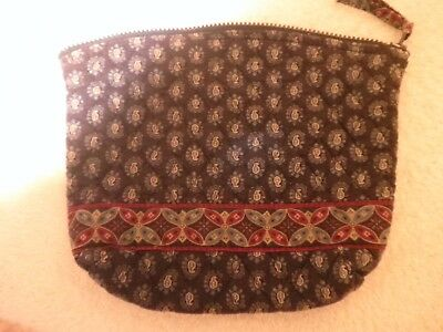 """VGUC Vera Bradley Retired """"Classic Navy"""" Small Cosmetic Makeup Bag Purse CLEAN A"""
