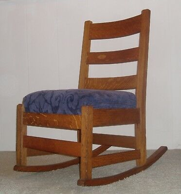 Charles Stickley Oak Rocking Chair--$249