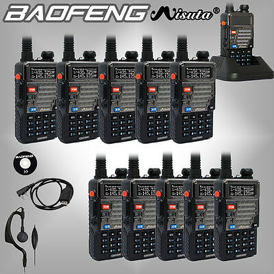 10PCS Baofeng Misuta UV-5R UHF VHF 136-174/400-520MHz Dual Band Radio + CD Cable