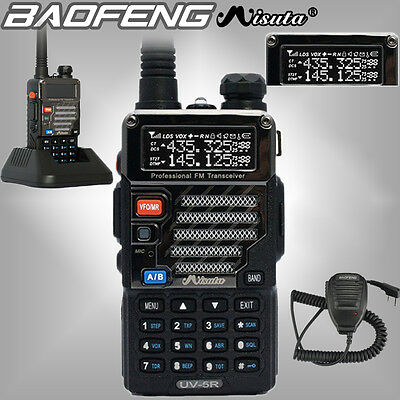 Baofeng x Misuta UV-5R UHF/VHF Walkie Talkie Dual Band 2 Way Radio + Speaker Mic