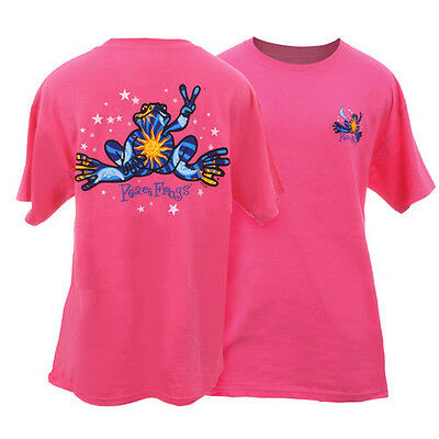 Peace Frogs Night & Day Large Adult T-Shirt