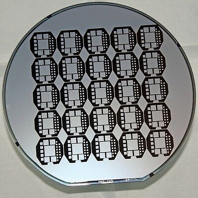 """6"""" Silicon Wafer Dallas Semiconductor with unknown large interposer pattern"""