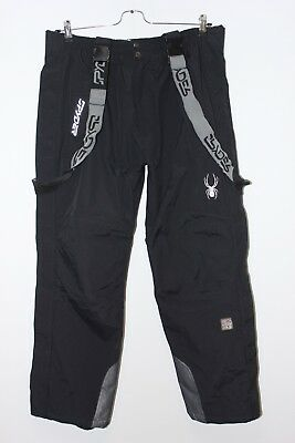 SPYDER Dermizax EV 20 000 Men Black Ski Pants Trousers Salopettes, Size 52