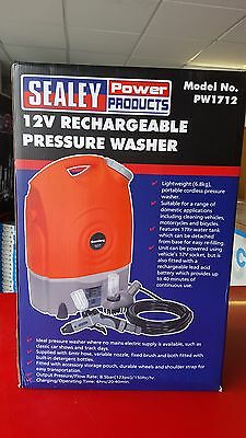 Sealey PW1712 Rechargeable 12v Pressure Washer Car Caravan Boat 8.5bar / 123psi