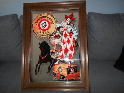The Great Arm & Hammer Brand Soda Large Mirror With Wooden Frame