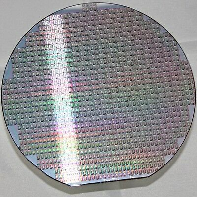 """6"""" Silicon Wafer Dallas Semiconductor DS1209C colourful patterns collection"""