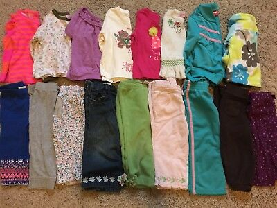 Baby Girls Toddlers Clothes Lot 12-18 Months Winter/Spring 17 Pieces