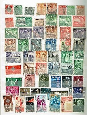 Malta - Set Of Used Stamps - Approx 55, Mostly Earlier Issues (L38)