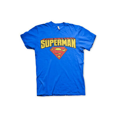 Officially Licensed Superman Blockletter Logo Hoodie S-XXL Sizes