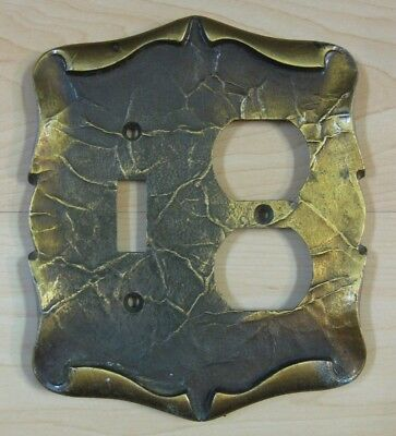 Vintage AMEROCK CARRIAGE HOUSE 1 outlet 1 switch plate cover