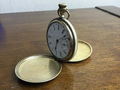 vintage waltham u.s.a. traveler pocket watch fortune a.w.cco double hunter parts
