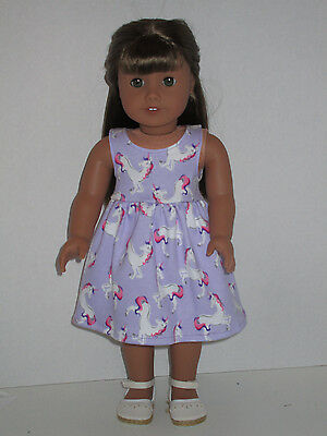 """Unicorn/Purple Sundress for 18"""" Doll Clothes American Girl"""