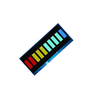 2PCS NEW 10 Segment LED Bargraph Light Display LED Red Yellow Green Blue