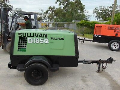 "2011 Sullair 185-Dpq Portable Tow Air Compressor ""cat 60 Hp Turbo Diesel"""