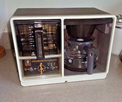 Vintage GE Spacemaker Coffee Maker General Electric Model with Clock - EX