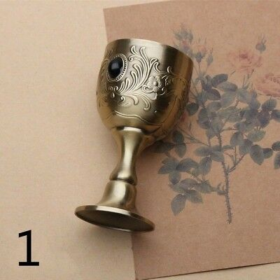Copper Tarot Chalice Wine Goblet Cups Wicca Altar Vintage Retro Divination Props