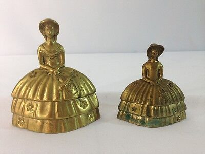 Pair of Victorian Style Brass Bells Made in England