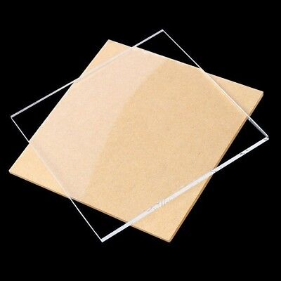 Clear Acrylic Board Plastic Sheet Glass Panels Eco Friendly DIY Material 1mm-4mm