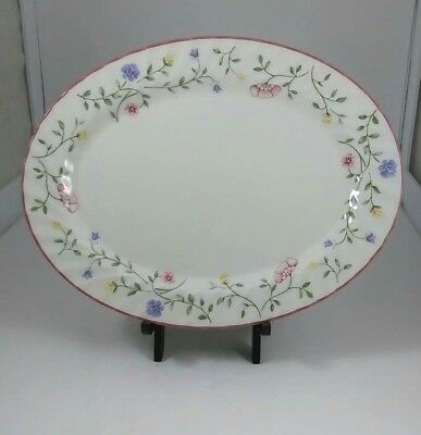 Johnson Brothers Summer Chintz Serving Platter Floral Garland Pink Purple Yellow