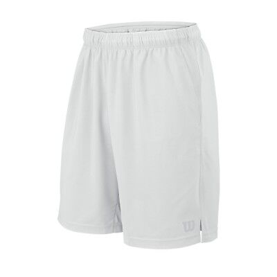 "Wilson Men's Core Rush 9"" Woven Tennis Short White Wilson"