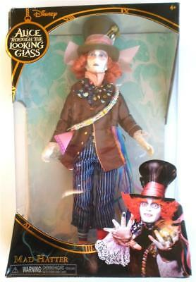 """Disney Mad Hatter Doll 13"""" Johnny Depp Alice Through the Looking Glass New"""