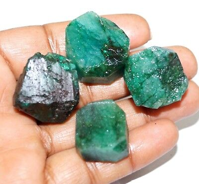 274 Ct. 4 Pc Natural Top Quality Green Colombia  Emerald rough Lot Gemstone