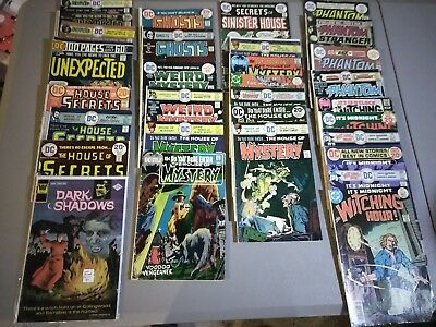 SILVER and BRONZE AGE HORROR STORY COMICS....WITCHING HOUR, HOUSE OF MYSTERY +++