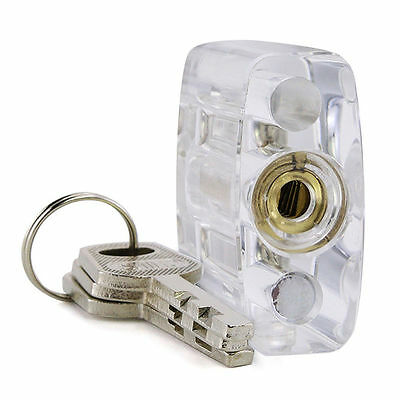 Transparent Cutaway Practice Padlock/Double Sides Lock for Locksmith Learning