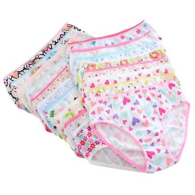 6pcs 0-12Y Toddler Kid Baby Girl Soft Cotton Short Brief Pant Knicker Underpant