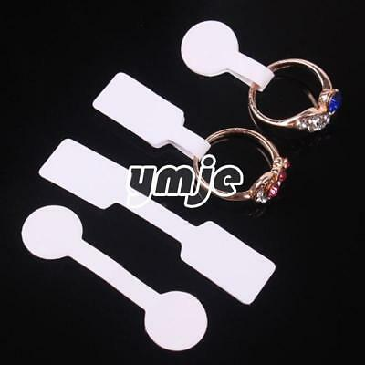 100PCs White Label String Strung Display Jewelry Merchandise Paper Price Tags