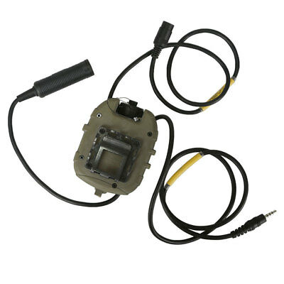 AU C4 PTT Army Tactical Outdoor Hunting Communication Gear For Radio 1-2 pin Tan