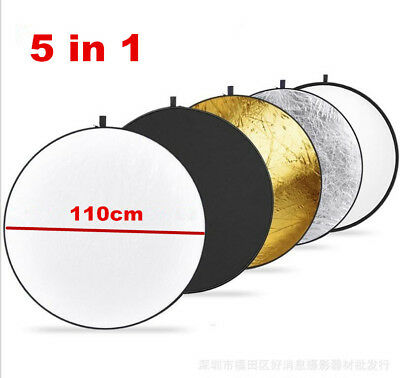 Portable 110cm 5 in 1 Photography Light Multi Collapsible Reflector Studio Board