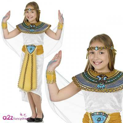 Egyptian Girl Costume Cleopatra Queen Of Nile Kids Ancient History Fancy Dress