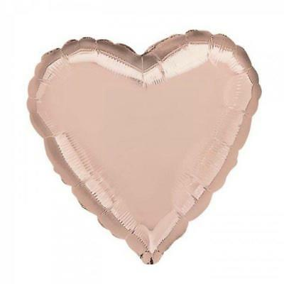 Rose Gold Heart Shape Foil Balloon Helium Air Wedding Birthday Party Balloons